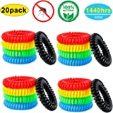 YSense Mosquito Repellent Bracelets 20 Pack, All Natural, Deet Free and Waterproof Bands
