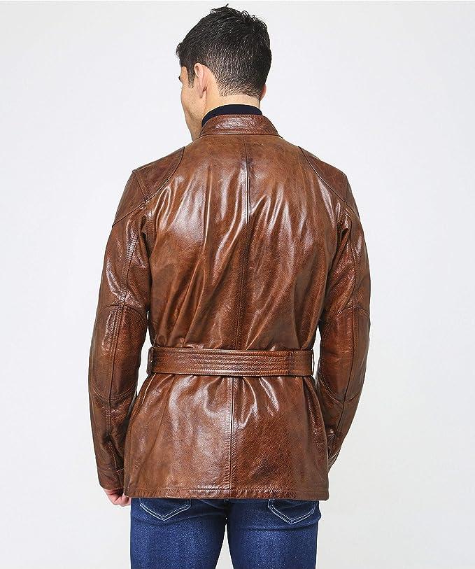 Amazon.com: Belstaff - Chaqueta de piel encerada para hombre ...