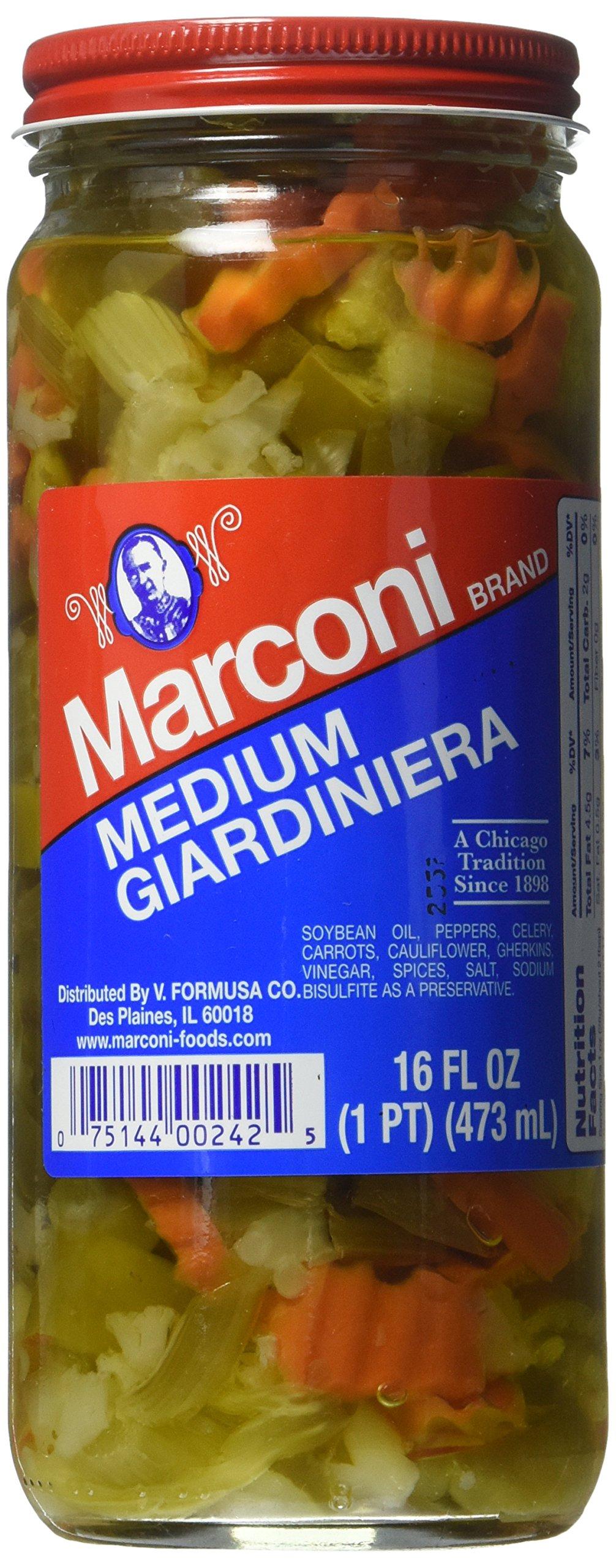 Marconi Medium Giardiniera, 16 Ounce by Marconi