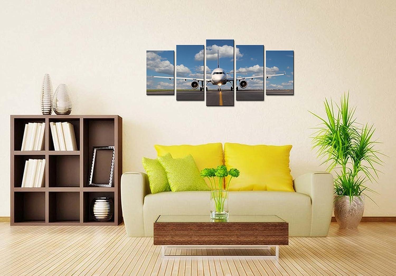 Amazon.com: Pyradecor 5 Piece Canvas Prints Wall Art Skyline ...