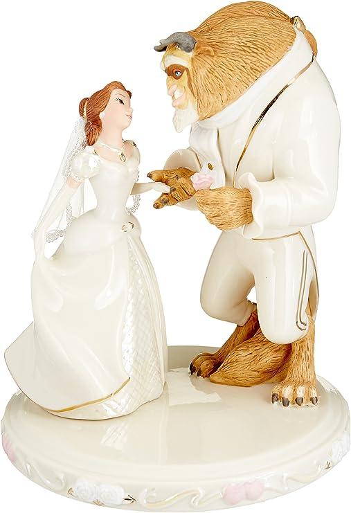 Amazon.com: Lenox 812834 Belle's Wedding Dreams Cake Topper, 2.3 ...