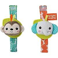 Bright Starts BS12092 Bright Starts Rattle & Teethe Wrist Pals Toy - Monkey & Elephant