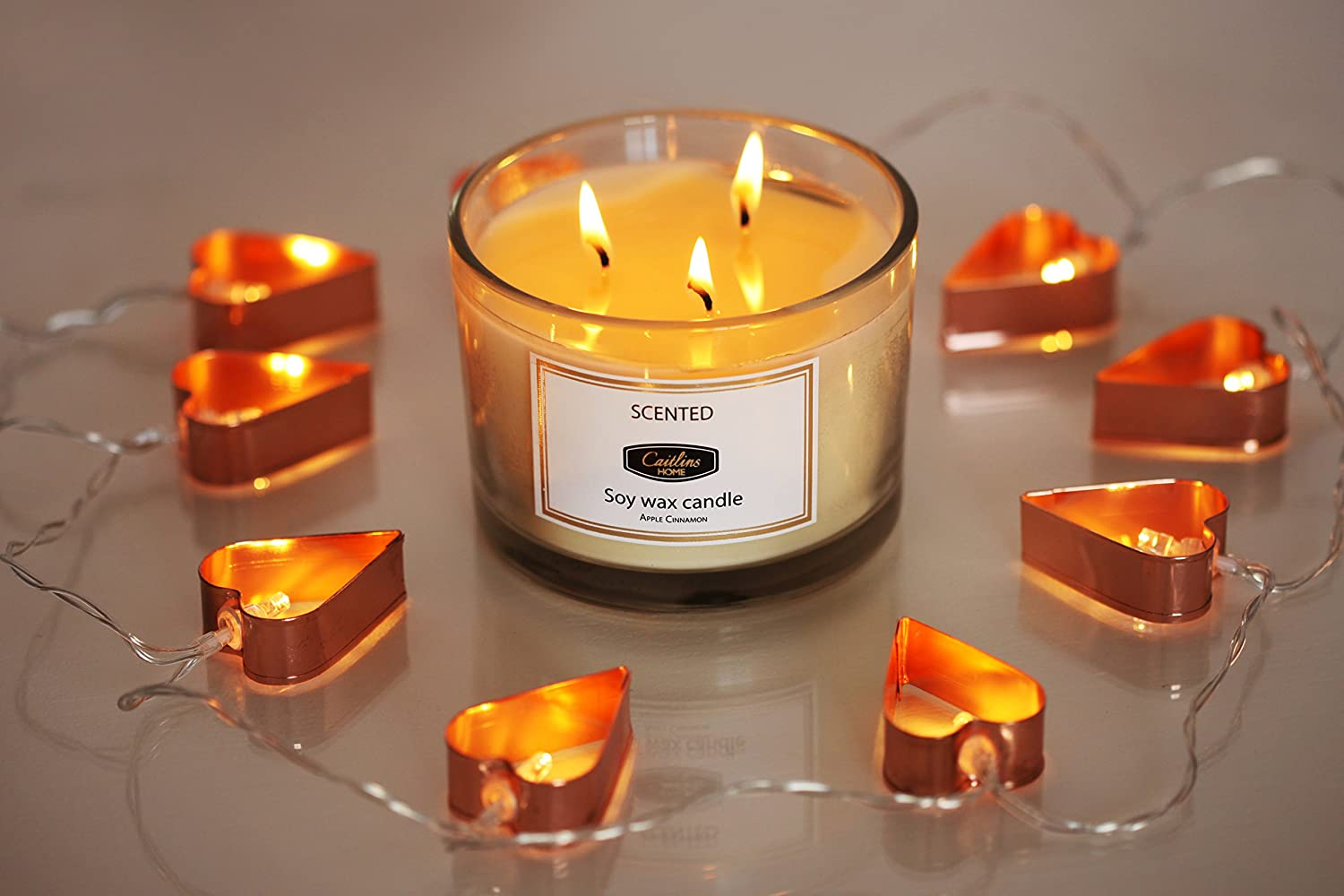 Amazon.com: Caitlins Home Aromatherapy Stress Relief 3 Wick Candle ...