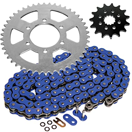 Amazon.com: Caltric O-Ring Blue Drive Chain & Sprockets Kit ...