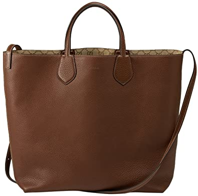 gucci bags tote. gucci beige brown original gg canvas leather ramble reversible tote bag bags