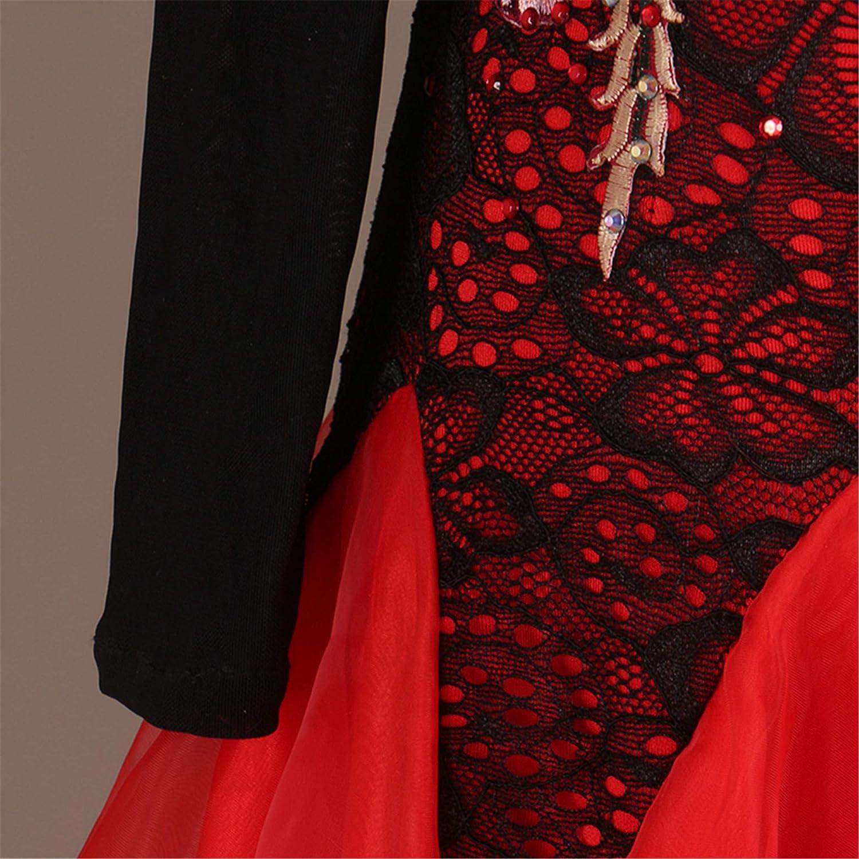 2675ebce0 Amazon.com: SIQIAN Adult/Child Cold Shoulder Lace International Standard  Ballroom Dance Dress Party Dance Evening Modern Dress: Clothing