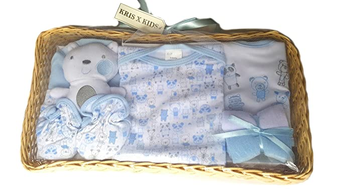 Bee Bo Newborn Baby 4 Pcs Gift Set 0-3 Months White Set Available In Blue or Pink or Lemon or White