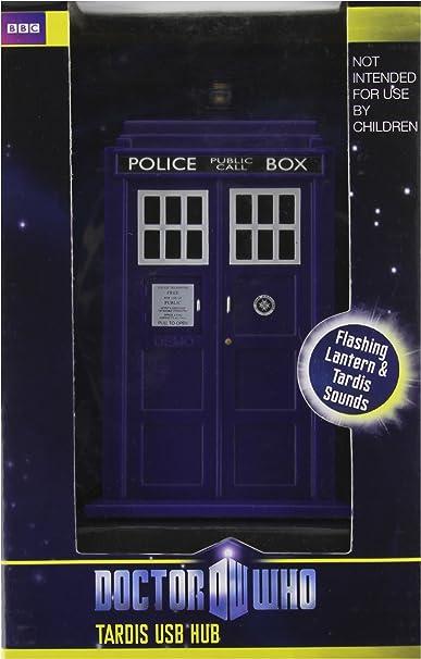 Doctor Who Tardis (DR115) - Concentrador USB de 4 puertos en forma de cabina telefónica, 4 puertos: Amazon.es: Juguetes y juegos