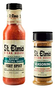 St. Elmo Shrimp Cocktail Sauce and Seasoning Bundle, Flavorful Combo for Steaks, Burgers, Chicken, Seafood, and More