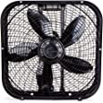 Holmes HBF2001DP-BM 20-Inch Box Fan, Black, quot Blade Span