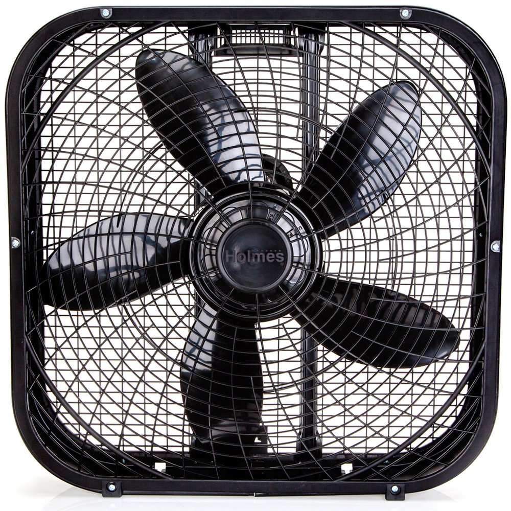 Holmes Box Fan, Metal, 20-Inch, White HBF2010A-WM