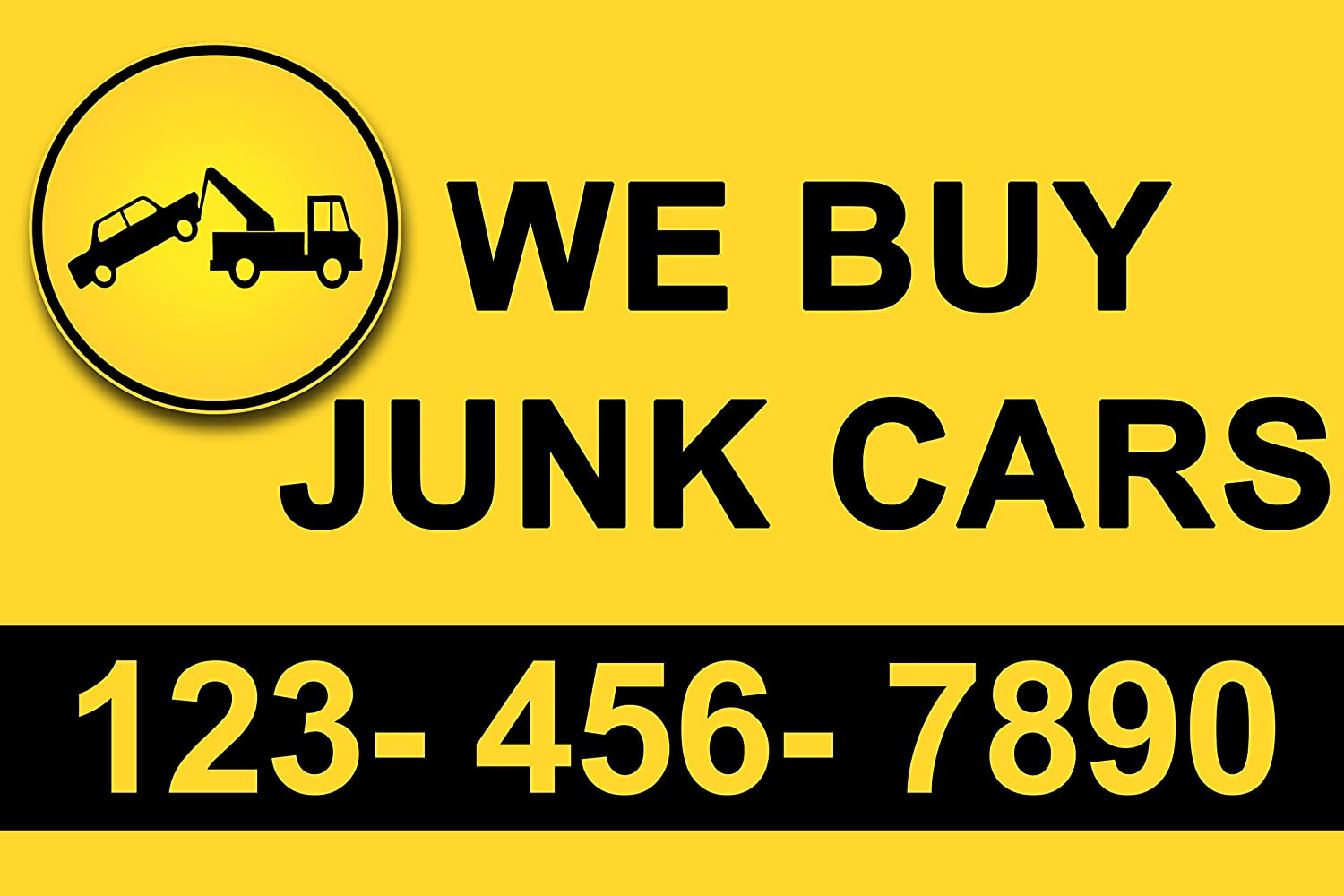 Amazon.com: We Buy Junk cars Banner sign 3 x 2 Ft by Bannerbuzz ...