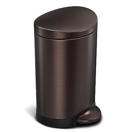 Amazoncom Simplehuman 6 Liter 16 Gallon Stainless Steel Compact