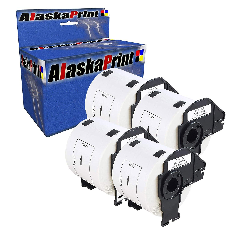 Alaskaprint 3X DK-11202 62 x 100 mm Versandetiketten 300 St/ück//Rolle Komp f/ür Brother P-Touch QL-1050 QL-1060N QL-1110NWB 1100 QL-500 500BW QL-700 QL-710W QL-800 QL-810W QL-820NWB