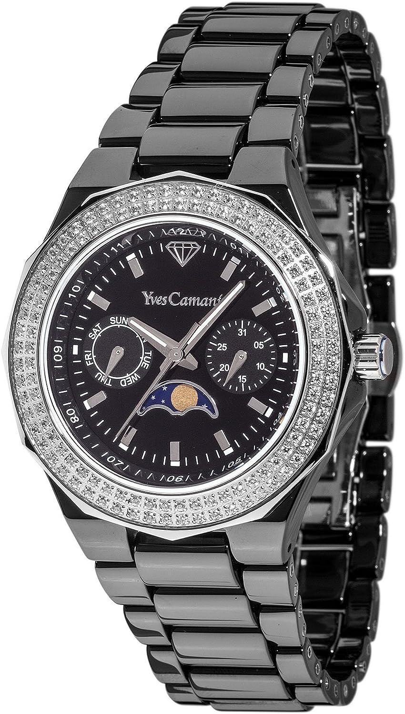 Yves Camani Reloj analogico para Mujer de Cuarzo con Correa en cerámica YC1009-F