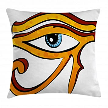 Amazon.com: Eye Throw almohada cojín cubierta por ambesonne ...