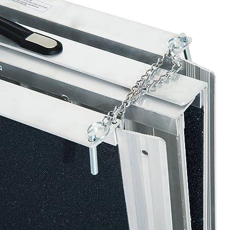 Amazon.com: HomCom - Rampa de aluminio plegable para silla ...