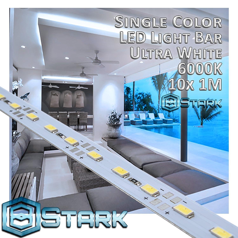 アルミニウム LED単色ストリップ インテリアデザイン照明 1メートル 10 Sets (10M/32.8FT) ホワイト LED-RES-1M5630-6000-10X B071G4BW4H 12000 10 Sets (10M/32.8FT)|Ultra White - 6000K Ultra White  6000K 10 Sets (10M/32.8FT)