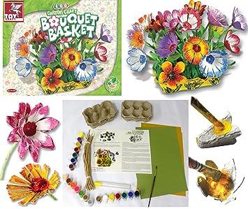 Ramo Floral Huevo Cartón Manualidades Kit Elaboración Creativo Niña Hobby Juguete Kit Relleno De Media Idea De Regalo: Amazon.es: Juguetes y juegos