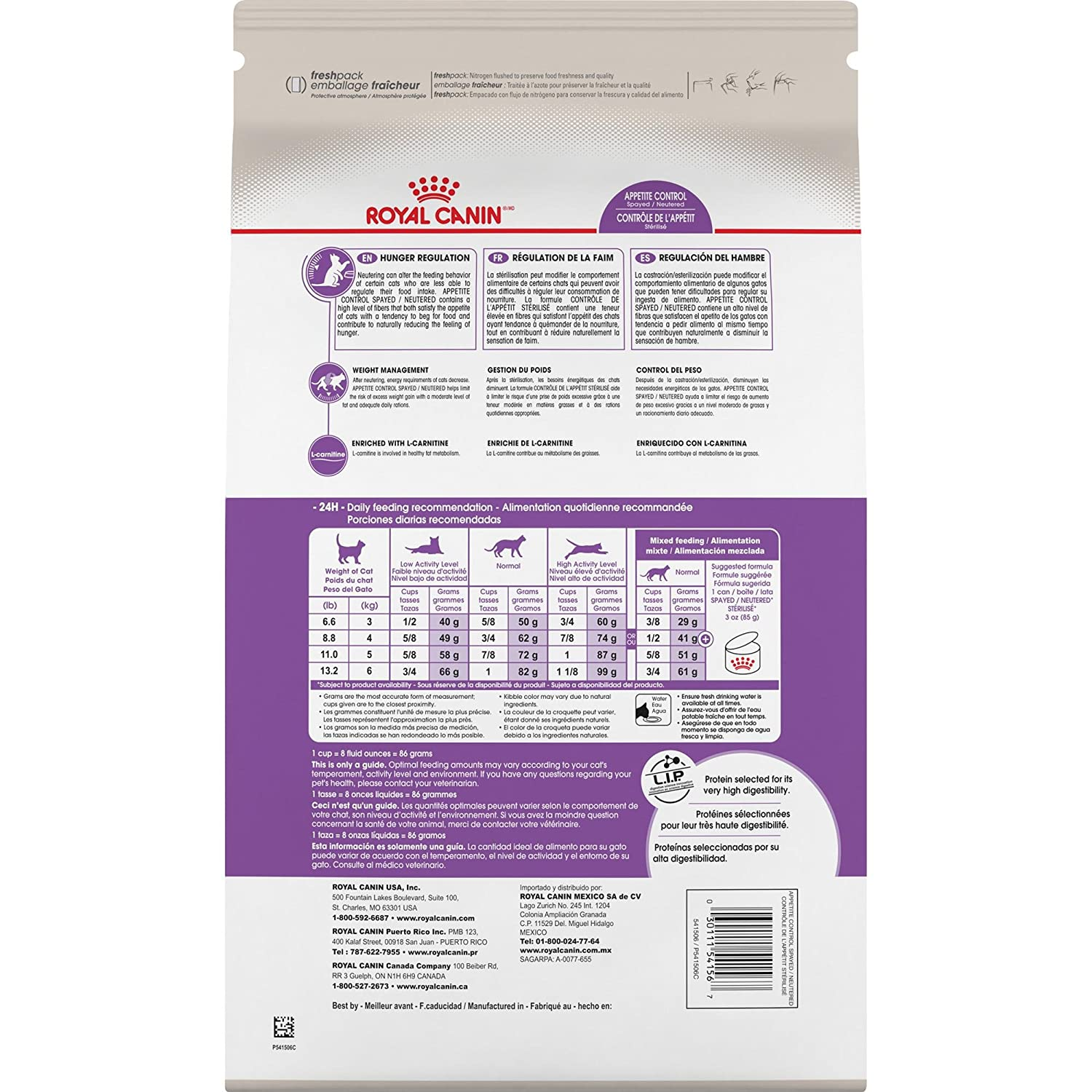 Amazon.com : Royal Canin Feline Health Nutrition Spayed/Neutered Appetite Control Dry Cat Food, 2.5-Pound : Dry Pet Food : Pet Supplies