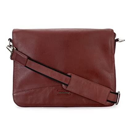 f34cbc23d6fb Image Unavailable. Image not available for. Color  Genuine Leather 15 inch  Messenger Bag ...