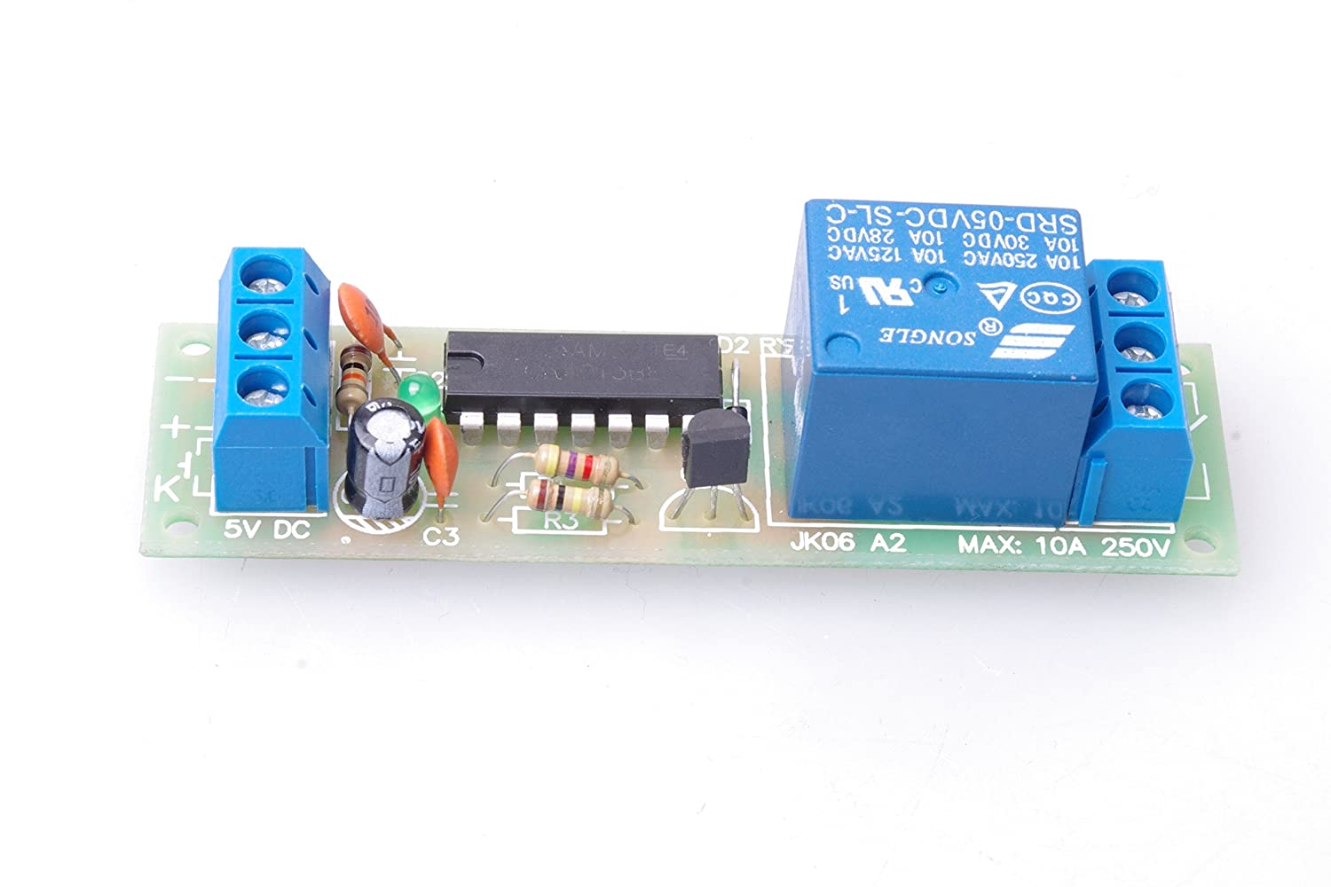 Smakn Dc 5v High Level Trigger Switch Latching Relay Relay3pdt Schematiclatched Relay4pdt Schematicrelays Module 10a Load Can Be Controlled Home Audio Theater