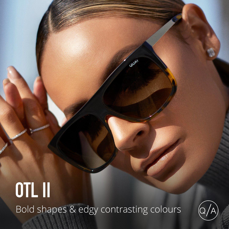 Quay Australia OTL II Womens Sunglasses Oversized Square Sunnies