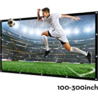 Projector Screen Large 250 Inches 16:9 Wall Mounted Canvas HD Projection Screen Folded for Outside Home Theater