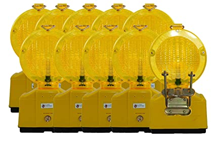 Pezzi da cantiere spia gialla con castello lampada led