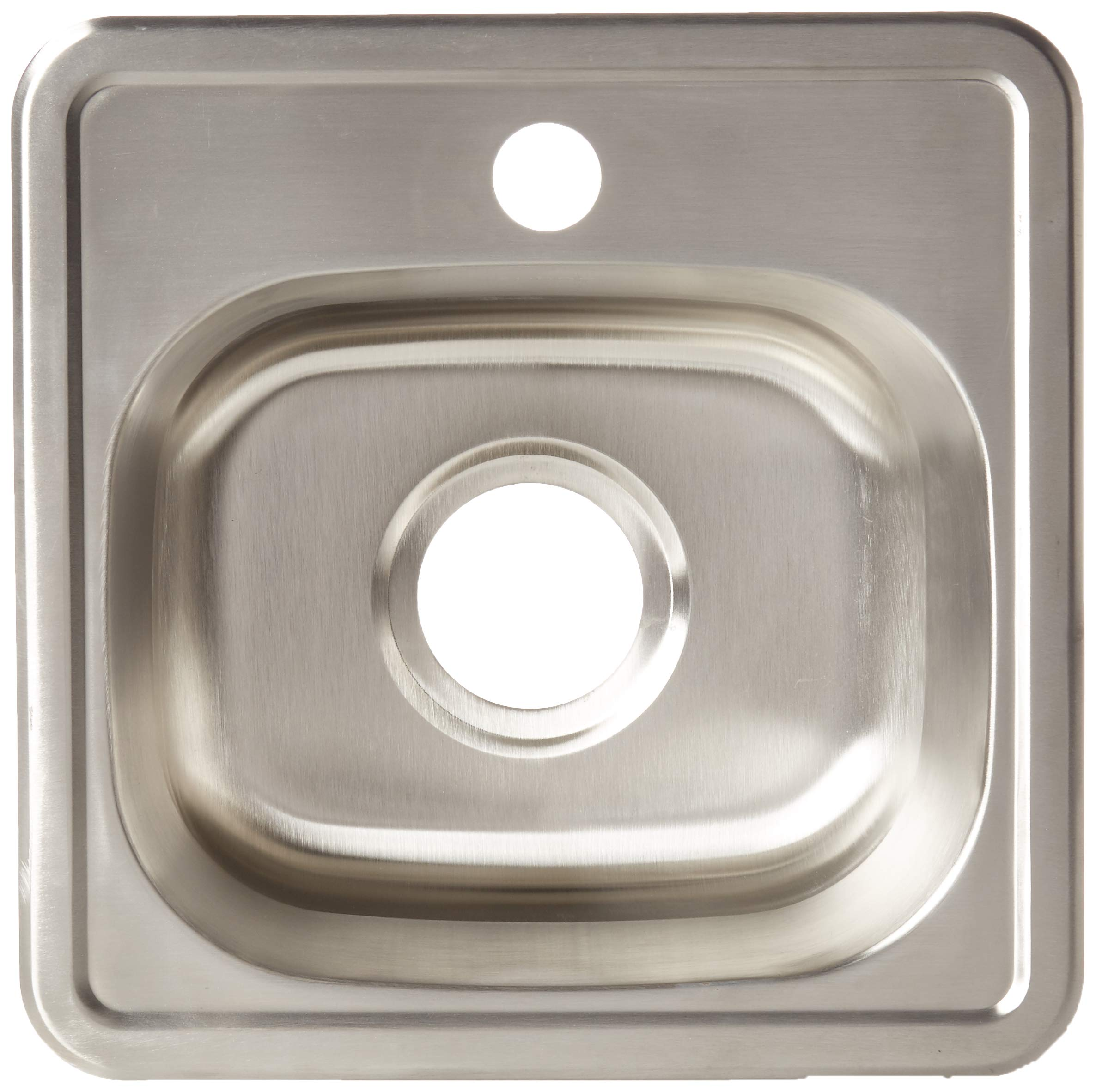 ZUHNE Drop-In Top Mount or Over Mount One Deck Hole Single and Double Bowl Stainless Steel Kitchen Sink (15x15 Single) by Zuhne (Image #2)