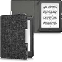 kwmobile hoes compatibel met Kobo Glo HD/Touch 2.0 - Stoffen beschermhoes voor e-reader in donkergrijs