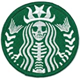 Starbucks Coffee Dead Barista Embroidered Patch (Velcro, Green)