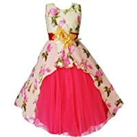 My Lil Princess Baby Girls Birthday Party wear Frock Dress_Cute Pastel_Georgette Fabric_3-9 Years