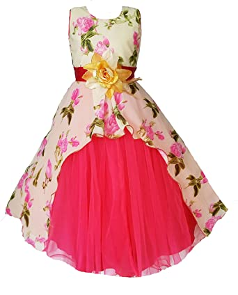 6289138e427f3 My Lil Princess Baby Girls Birthday Frock Dress_Cute Pastel_Georgette  Fabric_3-9 Years: Amazon.in: Clothing & Accessories