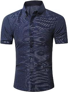 Chemises Homme Chemises Bureau Chemises BoutonnéEs Chemise à Manches Courtes Occasionnels pour Hommes HCFKJ - MS