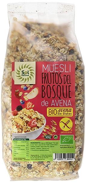 Sol natural muesli avena con frutos del bosque sin gluten, 425 gr