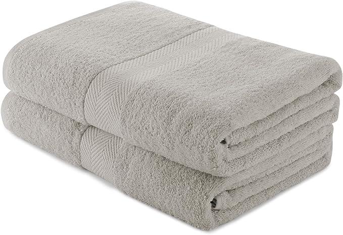 Charles Wilson Cotton Towel Set 500gsm 0120 2 Bath Sheets, Grey