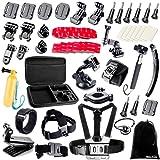 BAXIA TECHNOLOGY 38-in-1 Accessories Bundle Kit for GoPro HERO 5 Session 4 3+ 3 2 1 Black Silver SJ4000/5000/6000, Sports Camera Accessories for Xiaomi Yi/ AKASO/ WiMiUS/ Lightdow/ DBPOWER/ APEMAN/ Aokon/ ANART