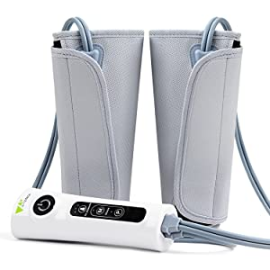 Amzdeal Leg Massager Healthcare Air Compression Leg Wrap Massage Therapy for Home/Travel Use