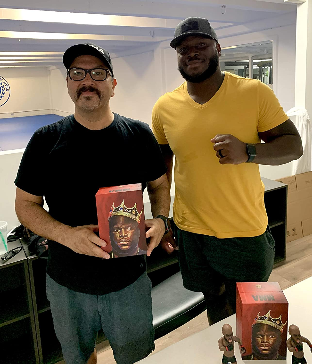 MMA UFC Action Figures Fight Night Sports Memorabilia UFC Bobblehead Derrick Lewis Limited Hand Painted Numbered Limited Handmade