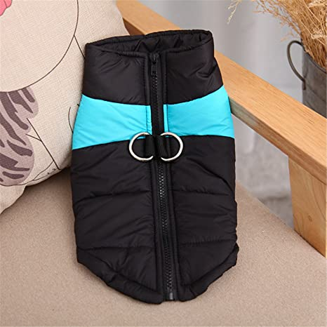 Amazon.com : HuoGuo Winter Warm Dog Clothes Waterproof Zip-up Pet Padded Vest Jacket Coat For Medium Large Dogs Ropa Para Perros S-5XL Blue 4XL : Pet ...