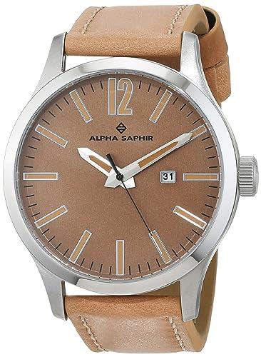 Amazon.com: Alpha Saphir 381D - Reloj analógico de cuarzo ...