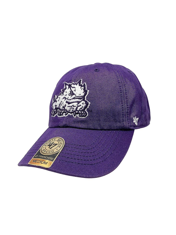 '47 TCU Horned Frogs ブランド フランチャイズ フィットキャップ NCAA カーブブリムキャップ パープル Medium