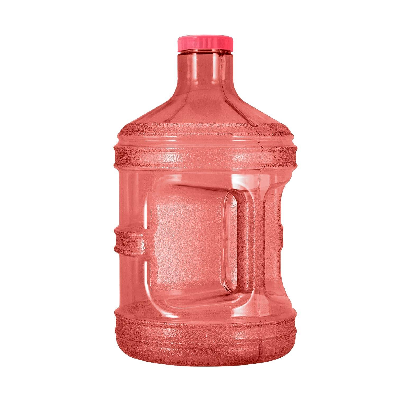 GEO 1 Gallon (128oz) BPA Free Reusable Leak-Proof Drinking Water Bottle w/48mm Screw Cap (Black)