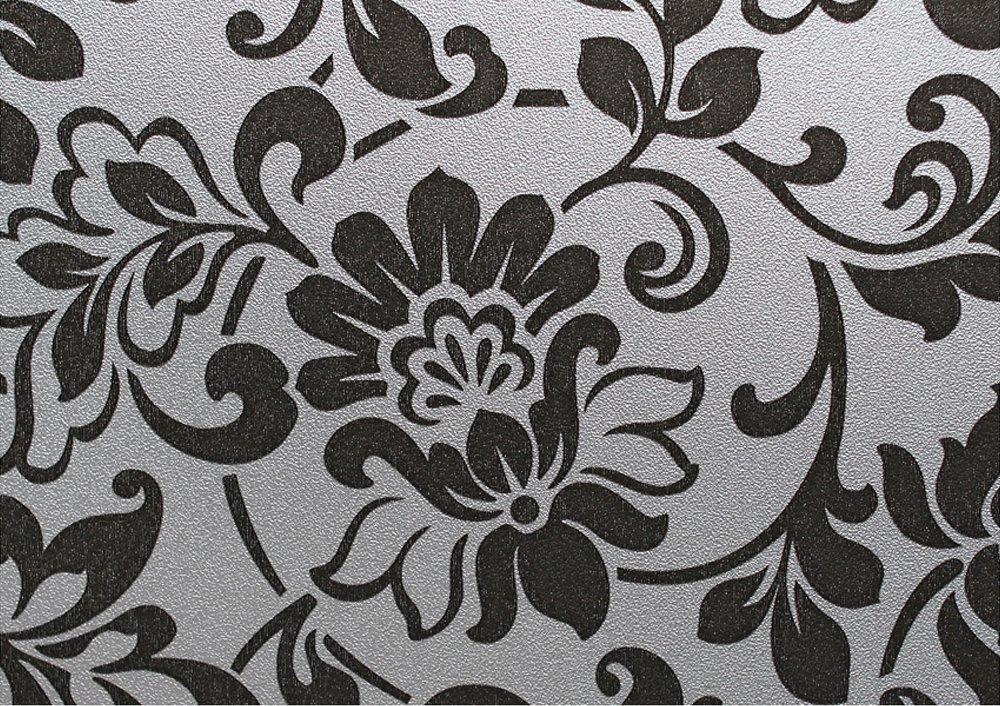 Homeartist花柄ステンドグラス装飾非粘着プライバシーウィンドウフィルム3 ft x 32 FT B00CBF5LIS