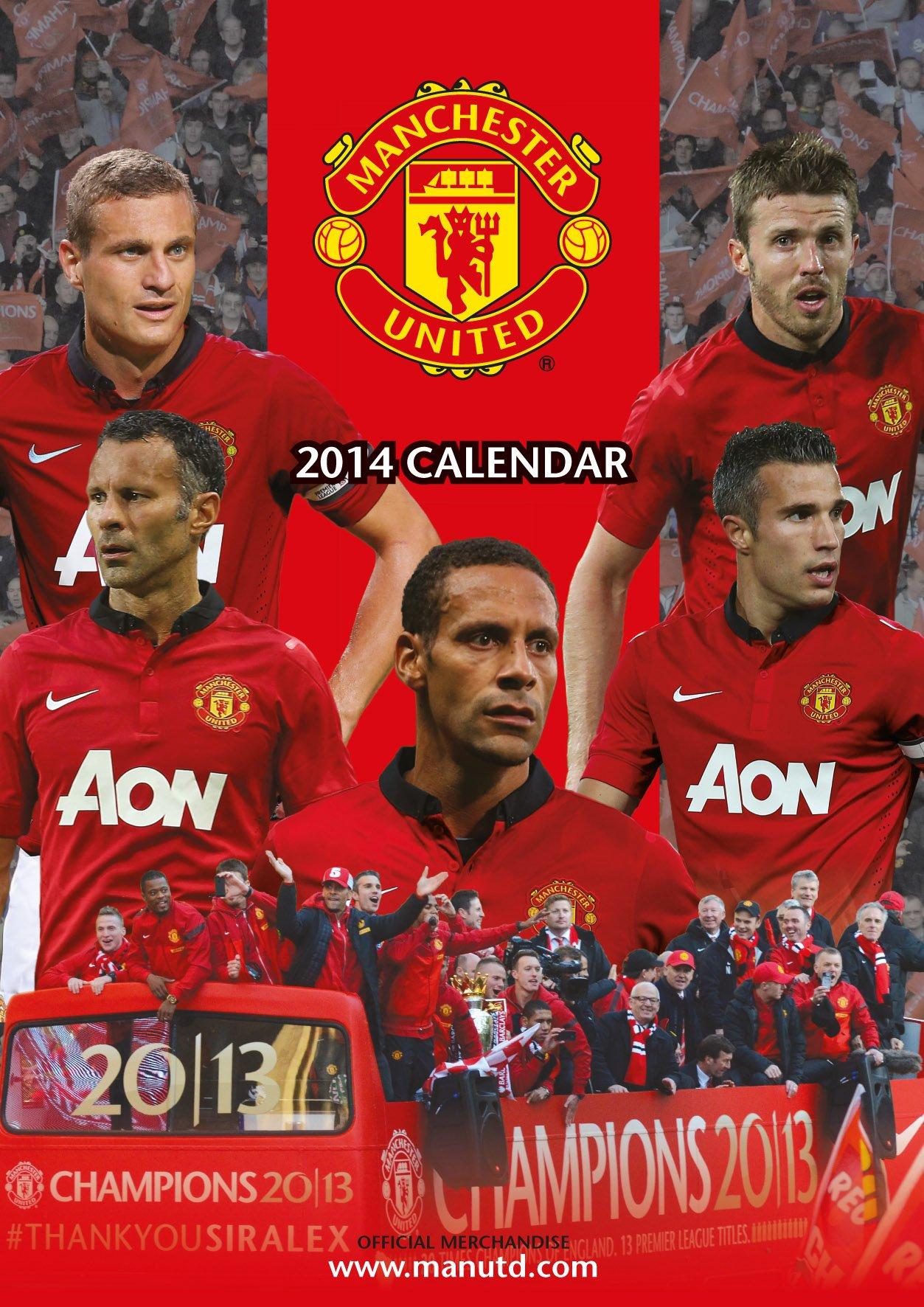 Official Manchester United 2014 Calendar (Calendars 2014)