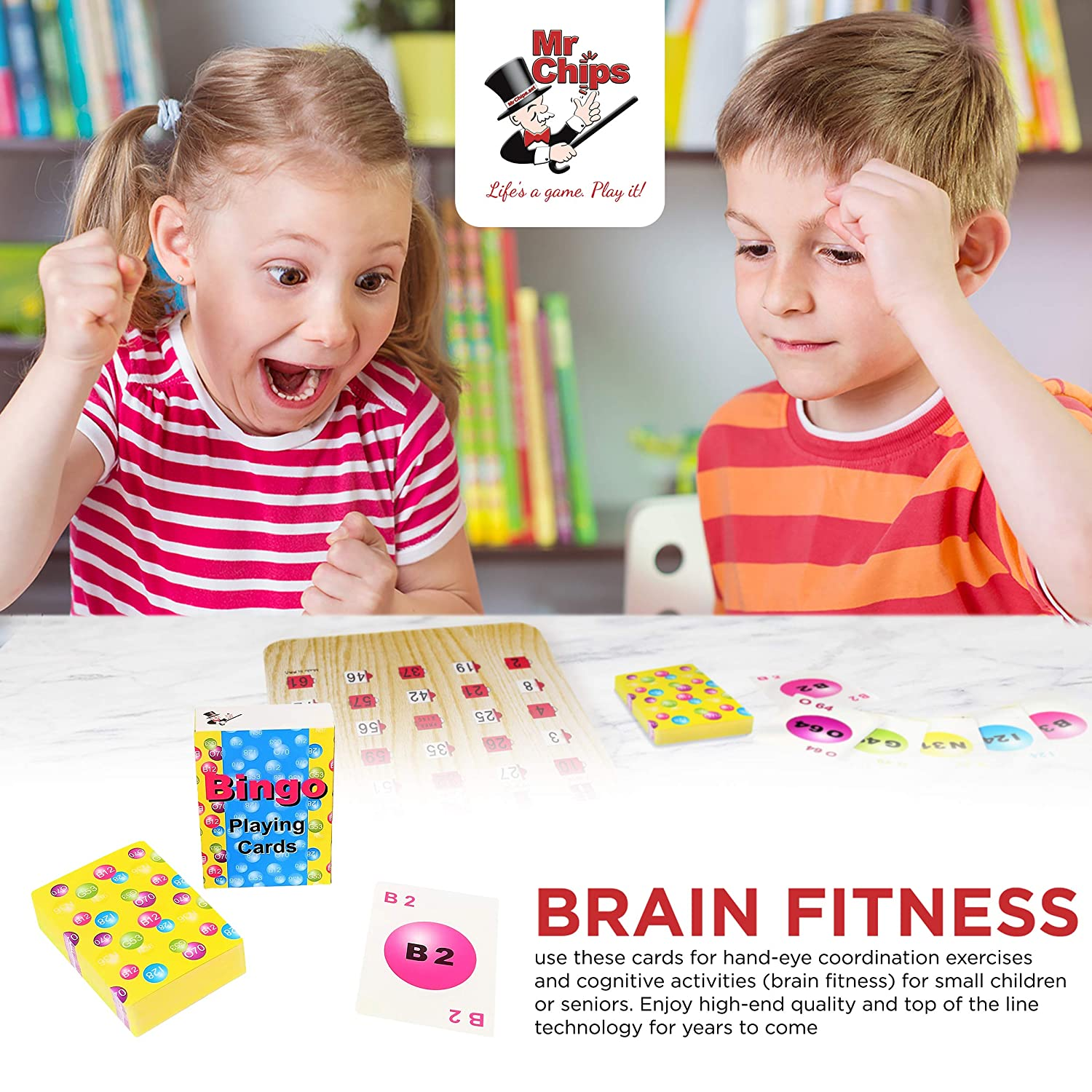 75 Calling Cards and 1 Masterboard Reusable MR CHIPS Bingo Slide Shutter Cards for Senior and Kids Shutter Cards Available in 2 Sets Economy Jam Proof