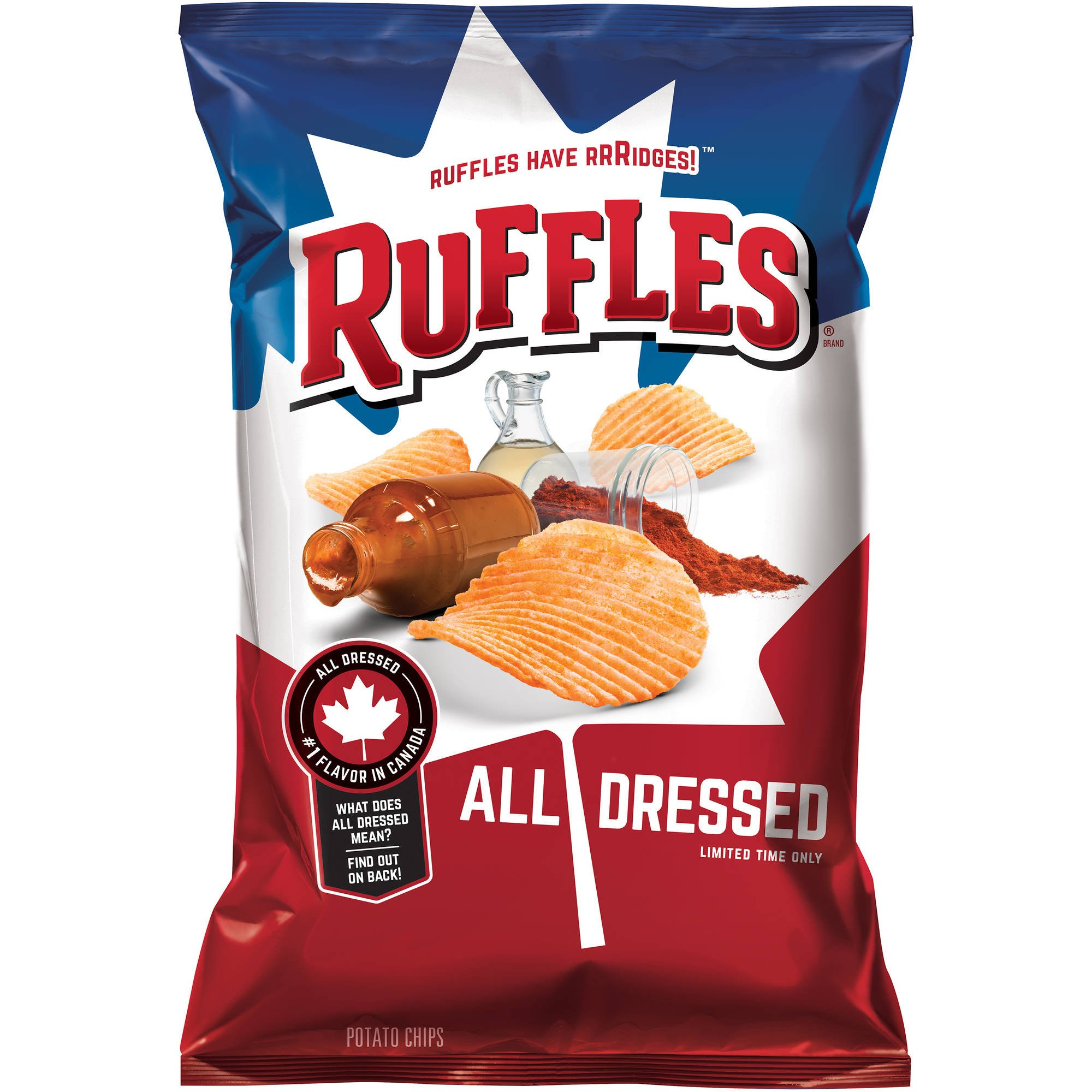 Ruffles All Dressed Ridged Potato Chips, 8.5 Ounce by Ruffles
