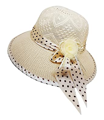 8721cdc03723bf Inaaya Sun Protection Hat for Women, Cream, 30 Gram, Pack of 1: Amazon.in:  Clothing & Accessories