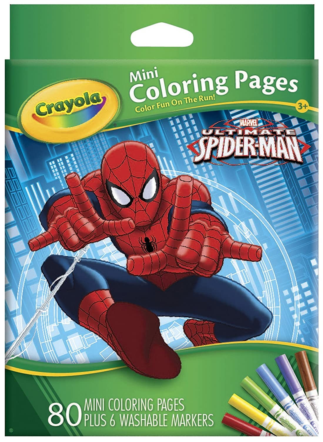 Amazoncom Crayola Ultimate Spiderman Mini Coloring Pages Toys